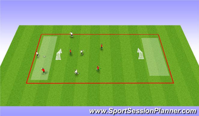 Football/Soccer Session Plan Drill (Colour): Soccer Hockey