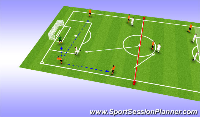 Football/Soccer Session Plan Drill (Colour): More Options...