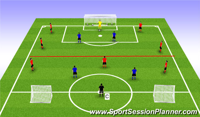 Football/Soccer Session Plan Drill (Colour): Expanded SSA