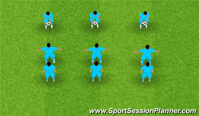 Football/Soccer Session Plan Drill (Colour): Ladder Juggling
