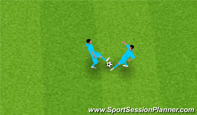 Football/Soccer Session Plan Drill (Colour): Tackling Technique
