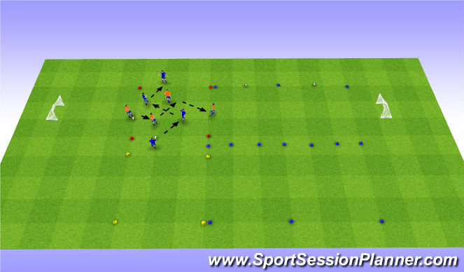 Football/Soccer Session Plan Drill (Colour): Possession - Tech