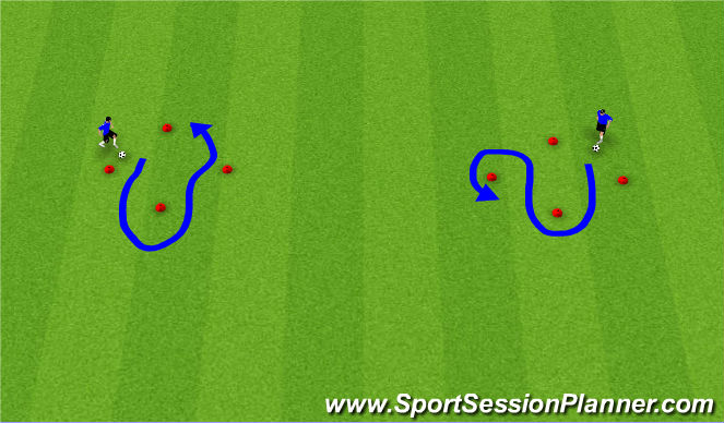 Football/Soccer Session Plan Drill (Colour): Touch Diamonds