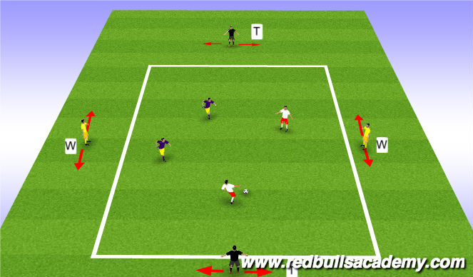 Football/Soccer Session Plan Drill (Colour): Circuit III - Posession to Targets