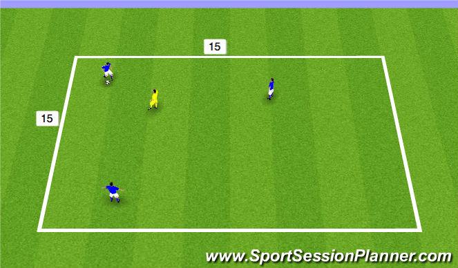 Football/Soccer Session Plan Drill (Colour): 3 v 1 Activity