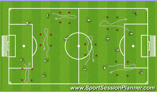 Football/Soccer Session Plan Drill (Colour): Turns 1
