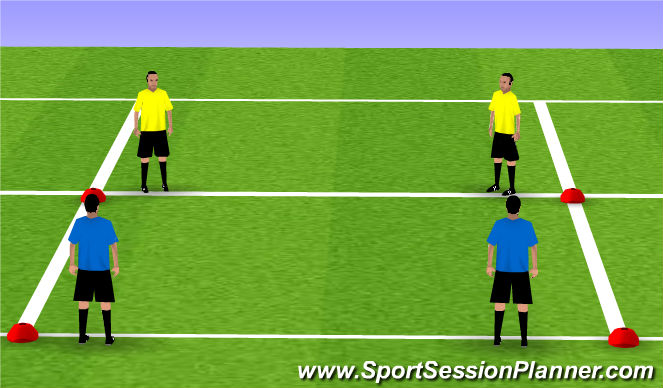 Football/Soccer Session Plan Drill (Colour): 2v2's