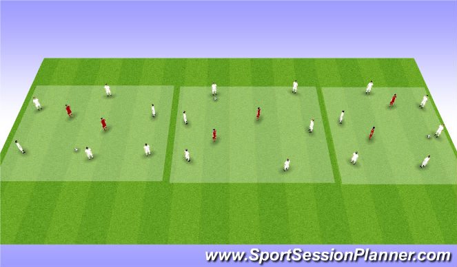 Football/Soccer Session Plan Drill (Colour): boxes