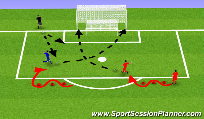 Football/Soccer Session Plan Drill (Colour): Individual 2