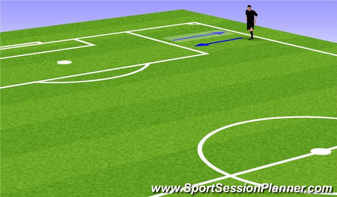 Football/Soccer Session Plan Drill (Colour): Dynamic stretching