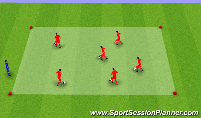 Football/Soccer Session Plan Drill (Colour): Warm Up ( TRaffic Lights)