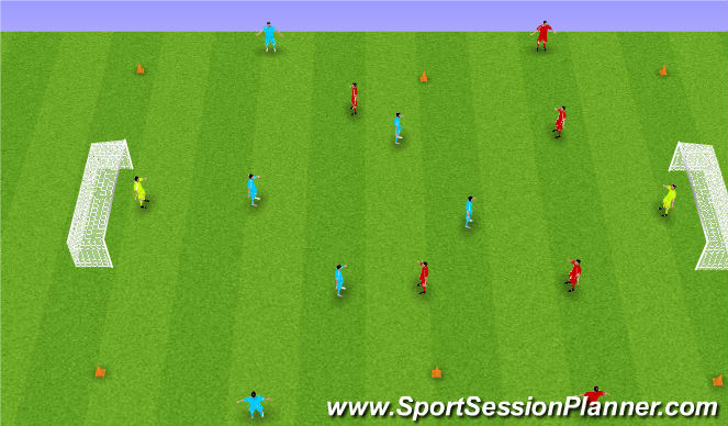 Football/Soccer Session Plan Drill (Colour): Crossing Game
