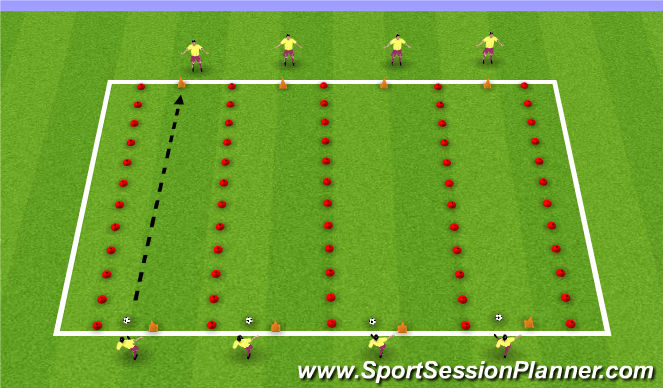 Football/Soccer Session Plan Drill (Colour): Accuracy Passing Warm Up