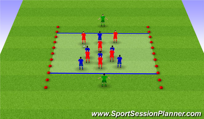 Football/Soccer Session Plan Drill (Colour): Possession W/ Gks