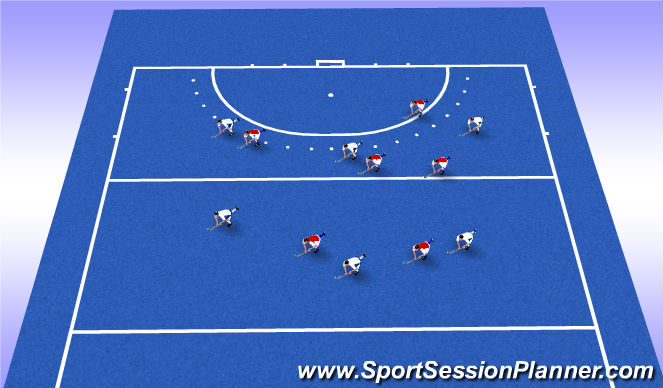 Hockey Session Plan Drill (Colour): Games Zone V Man man