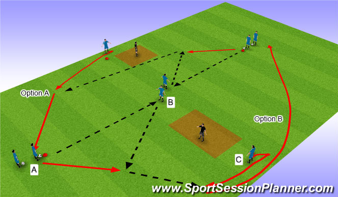 Football/Soccer Session Plan Drill (Colour): Passen im Stern 2