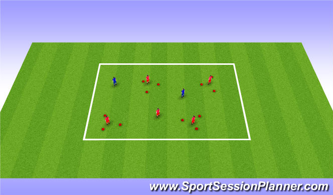 Football/Soccer Session Plan Drill (Colour): Get out of here!