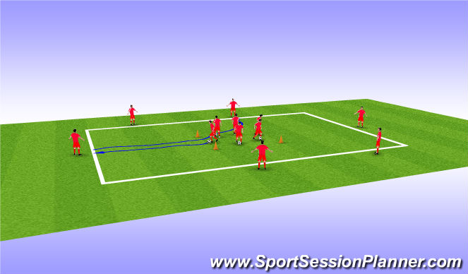Football/Soccer Session Plan Drill (Colour): Ball Manipulation Warm Up 1