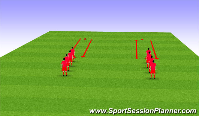Football/Soccer Session Plan Drill (Colour): Dynamic Stretching AJ