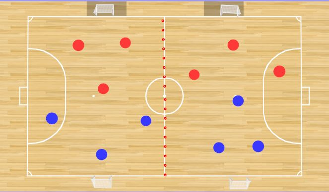 Futsal Session Plan Drill (Colour): Play
