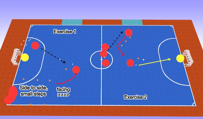 Futsal Session Plan Drill (Colour): Practice 1