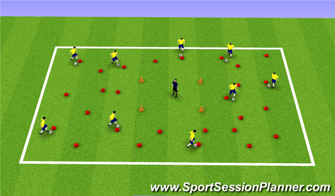 Football/Soccer Session Plan Drill (Colour): Ball Manip