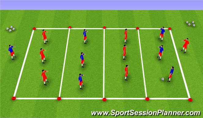 Football/Soccer Session Plan Drill (Colour): Possession - Patience and Penetration