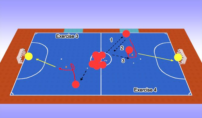 Futsal Session Plan Drill (Colour): Practice 1B