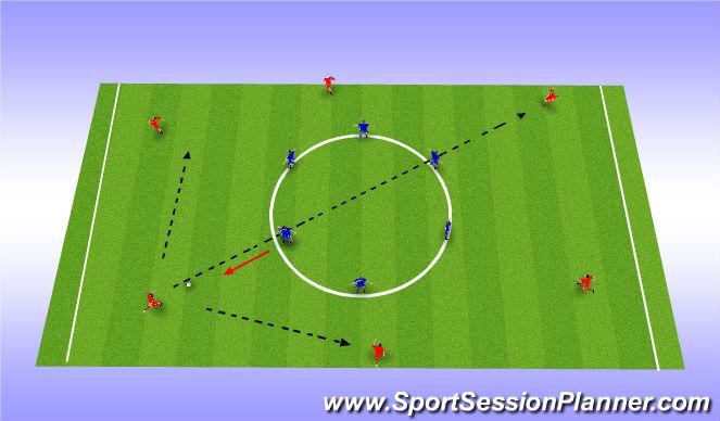 Football/Soccer Session Plan Drill (Colour): Pressing 1v1