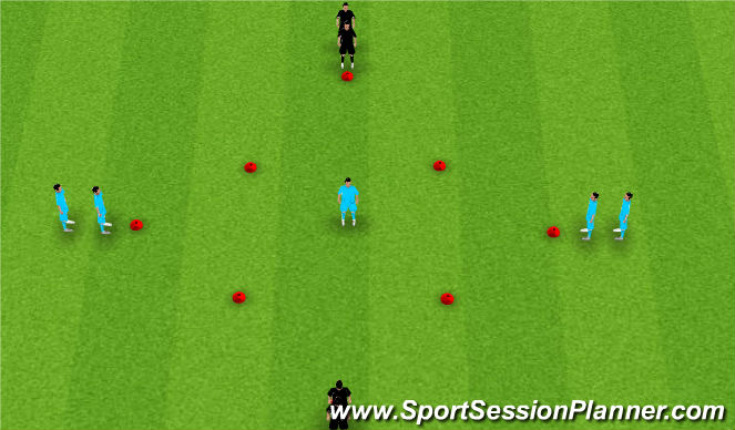 Football/Soccer Session Plan Drill (Colour): 1 vs 1 continuous