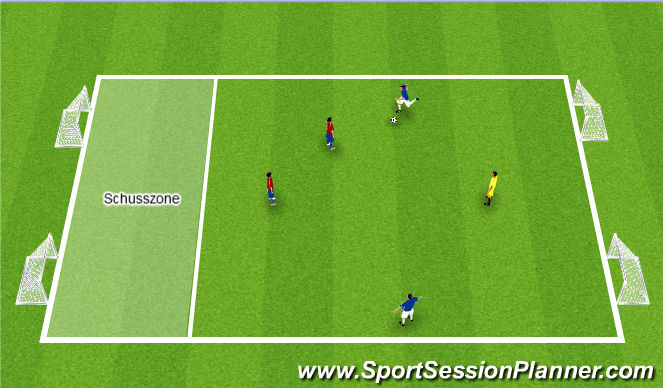 Football/Soccer Session Plan Drill (Colour): Defensive 2v3