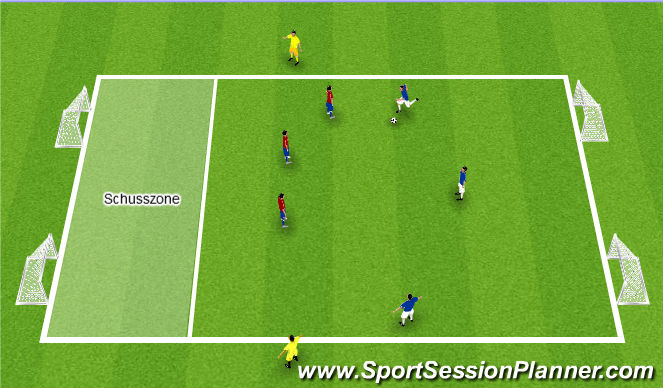 Football/Soccer Session Plan Drill (Colour): Defensive 3v5