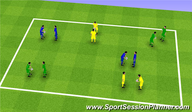 Football/Soccer Session Plan Drill (Colour): Upphitun - Snerpa