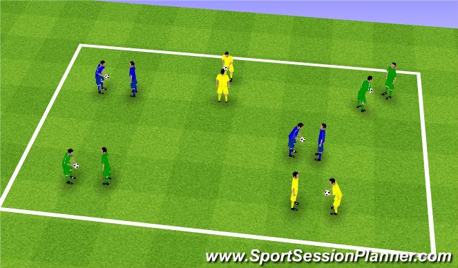 Football/Soccer Session Plan Drill (Colour): Upphitun - Snerpa