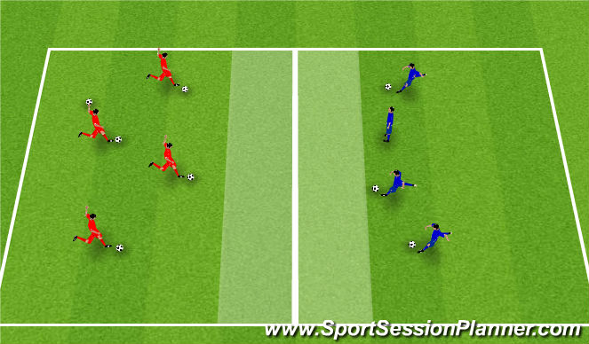 Football/Soccer Session Plan Drill (Colour): Clean Your Room