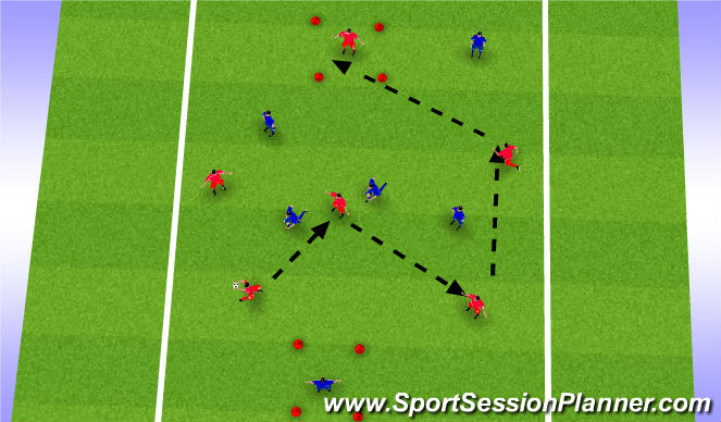 Football/Soccer Session Plan Drill (Colour): Handball AJ