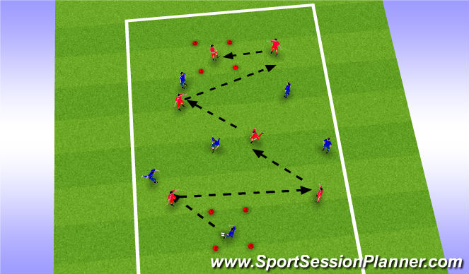 Football/Soccer Session Plan Drill (Colour): Opposed Possession Practice AJ