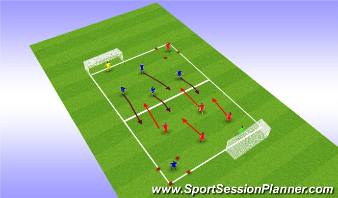 Football/Soccer Session Plan Drill (Colour): Possession Game Related AJ