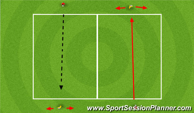 Football/Soccer Session Plan Drill (Colour): High balls