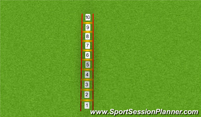 Football/Soccer Session Plan Drill (Colour): Loopladderoefening 1
