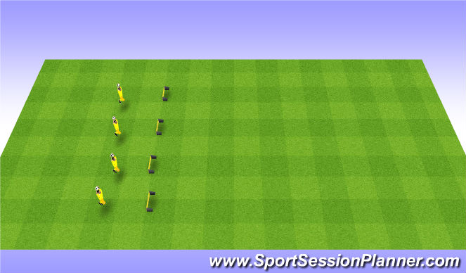 Football/Soccer Session Plan Drill (Colour): Introduction to high balls