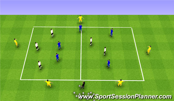 Football/Soccer Session Plan Drill (Colour): Posession grid