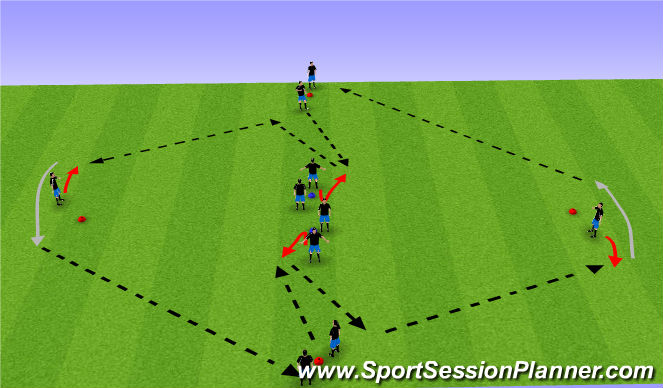 Football/Soccer Session Plan Drill (Colour): Warm-up I