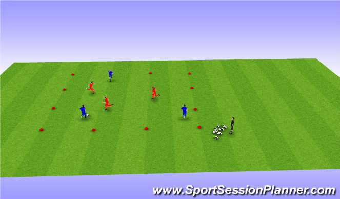 Football/Soccer Session Plan Drill (Colour): Mass pass