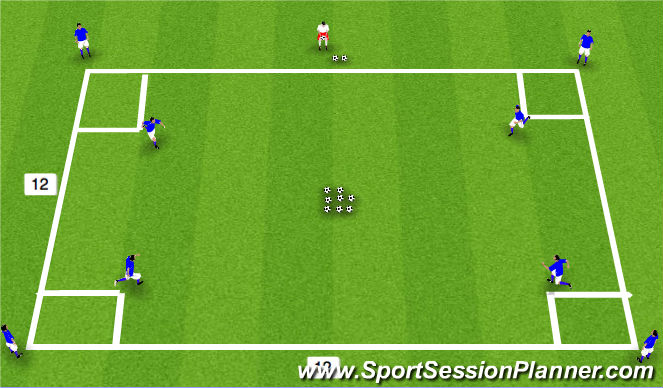 Football/Soccer Session Plan Drill (Colour): Ball Gathering Conditioning