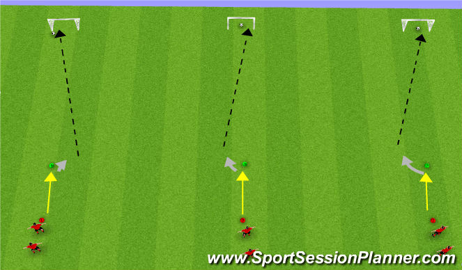 Football/Soccer Session Plan Drill (Colour): All-Star Shooting