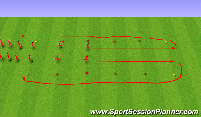 Football/Soccer Session Plan Drill (Colour): FIFA 11+ upphitun.