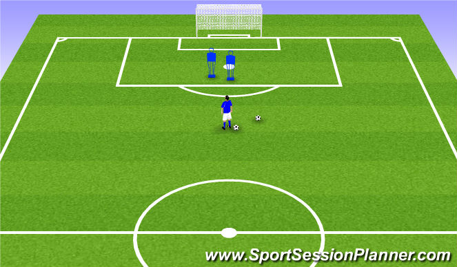Football/Soccer Session Plan Drill (Colour): In front