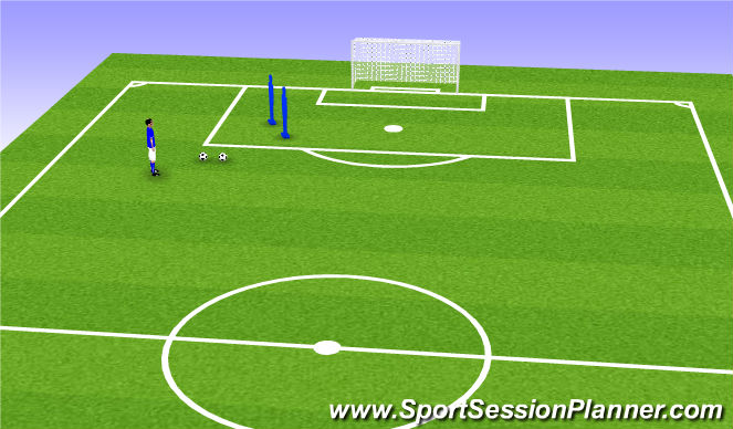 Football/Soccer Session Plan Drill (Colour): wide angle
