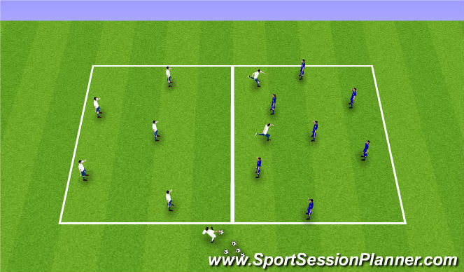 Football/Soccer Session Plan Drill (Colour): 7v7 Possession w/ transition